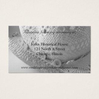 Cowboyhut-Hochzeitseinschließungskarten Visitenkarte