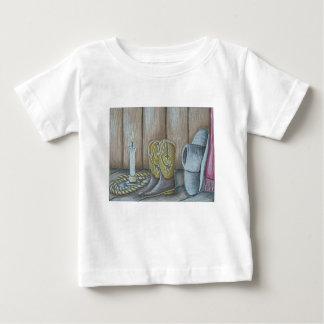Cowboyhut und Stiefel Baby T-shirt