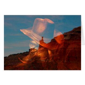 Cowboyhut und Stiefel gegen Palo Duro-Schlucht, Grußkarte