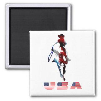 Cowboys 2 Zoll quadratische Magnet- Quadratischer Magnet