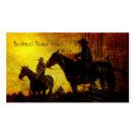 Cowboys auf PferdeSchmutz-Visitenkarten Visitenkarten