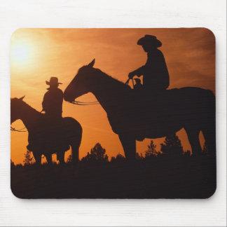 Cowboys auf Pferdmousepad Mauspad
