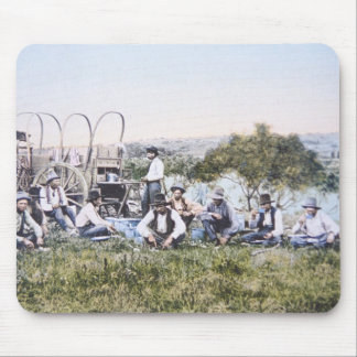 Cowboys bei Lunch, 1904 (Foto) Mousepad