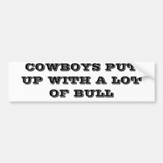 Cowboys duldeten viel Stier Autoaufkleber