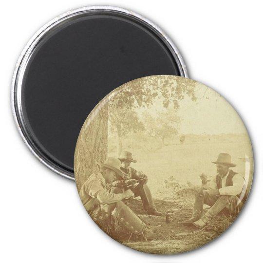 Cowboys Kaffee Runder Magnet 5,7 Cm