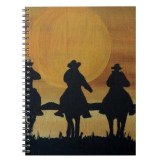 Cowboys und Pferde Notizblock