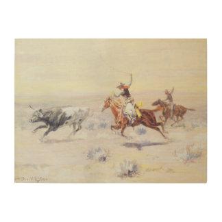 Cowboys vom Bar-Dreieck durch cm Russell Holzwanddeko