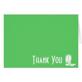 Cowboystiefel danken Ihnen Mitteilungskarten Karte