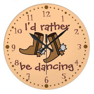 Cowboystiefel eher tanzen Land-Western Wanduhren