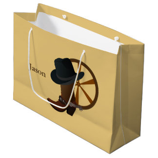 Cowboystiefel-Entwurf LGB Große Geschenktüte