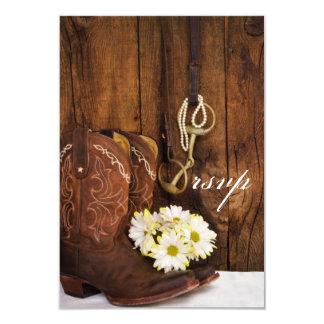 Cowboystiefel, Gänseblümchen, Karte