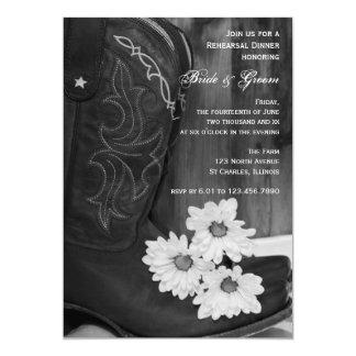 Cowboystiefel und Gänseblümchen, die Karte