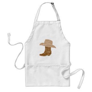 Cowboystiefel und Hut Schürze