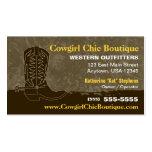 Cowboystiefel-Visitenkarte