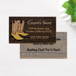 Cowboystiefel-Western-Thema Visitenkarte