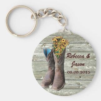 Cowboystiefel-Westernlandhochzeit danken Ihnen Schlüsselband