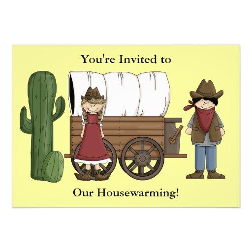 Cowboyund CowgirlHousewarming - Western Personalisierte Einladungskarten