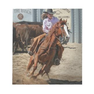 cowgir notizblock