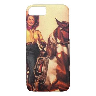 Cowgirl auf ihrem Pferd iPhone 8/7 Hülle