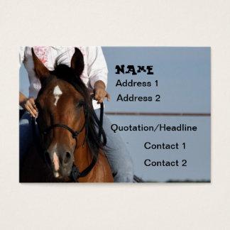 Cowgirl auf PferdeVisitenkarte Visitenkarte