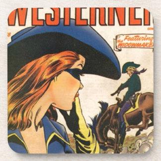 Cowgirl-Geächteter Untersetzer