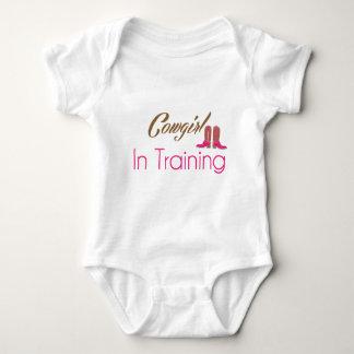 Cowgirl im Trainings-Baby-Kleid T Shirts