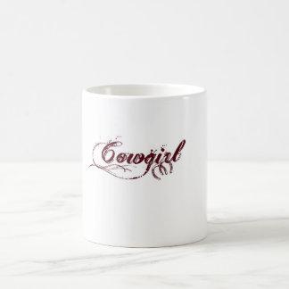 Cowgirl-Kaffee-Tasse mit Pferdeschuh-Akzenten Kaffeetasse