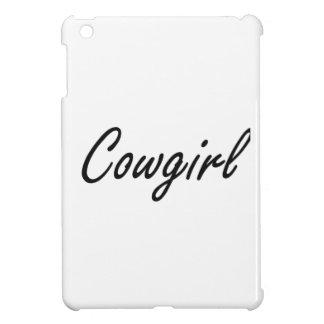 Cowgirl-künstlerischer Job-Entwurf iPad Mini Hülle