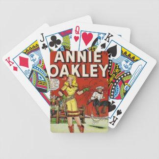 Cowgirl mit einem Lariat Bicycle Spielkarten