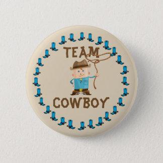 Cowgirl-oder Cowboy-Geschlecht decken Team-Knopf Runder Button 5,7 Cm