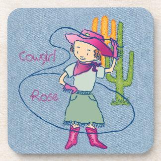Cowgirl-Rosen-Rodeo-Championlasso-Tricks mit Untersetzer