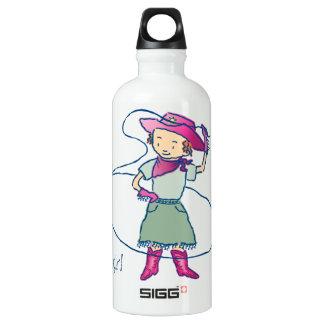 Cowgirl-Rosen-Rodeo-Championlasso-Tricks Wasserflasche