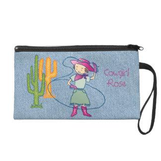 Cowgirl-Rosen-Rodeo-Championlasso-Tricks Wristlet Handtasche