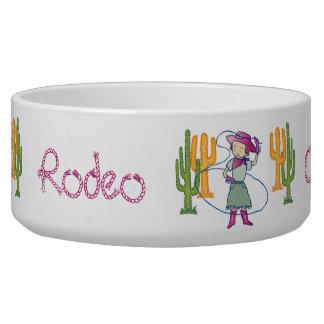 Cowgirl-Rosen-Rodeo mit Kaktus Napf