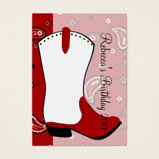 Cowgirl-Stiefel Visitenkarte