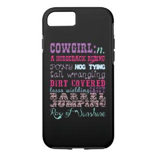 Cowgirl-Telefon-Kasten iPhone 8/7 Hülle
