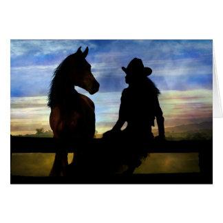 Cowgirl-und Pferdealles Gute zum Geburtstag Karte
