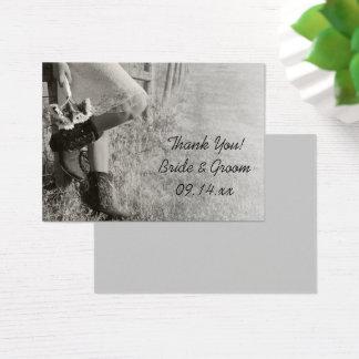 Cowgirl-und Sonnenblume-Ranch-Gastgeschenk Visitenkarte