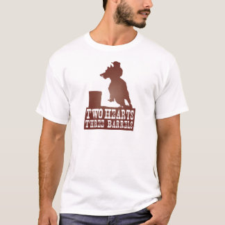 Cowgirlcowboy-Redneck des Fasses laufendes Pferde T-Shirt