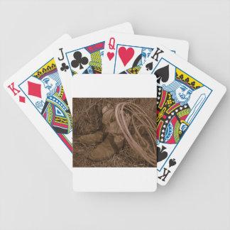 Cowgirlstiefel u. Lariat Bicycle Spielkarten