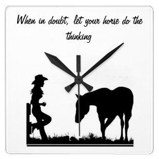 Cowgirluhr Wanduhren