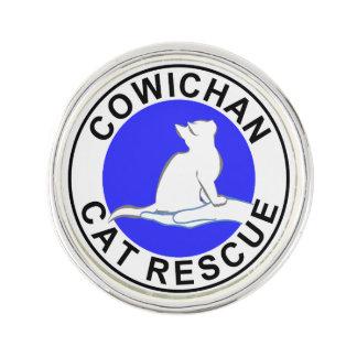 Cowichan Katzen-Rettungslogo Anstecknadel