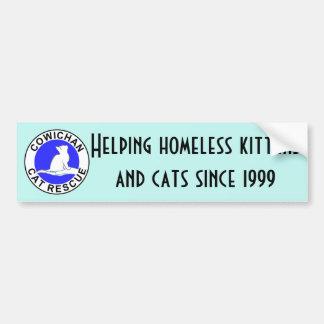 Cowichan Katzen-Rettungslogo Autoaufkleber