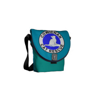 Cowichan Katzen-Rettungslogo Kurier Tasche