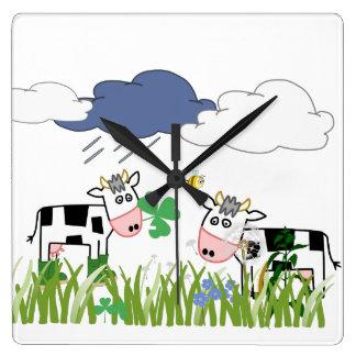 Cows kids design wanduhr