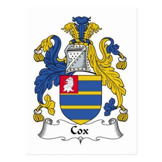 Cox-Familienwappen Postkarte
