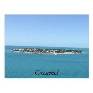Cozumel-Insel-blaues Wasser-tropische Postkarte