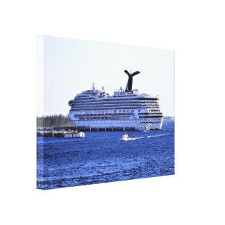 Cozumel-Kreuzschiff-Besucher Leinwanddruck