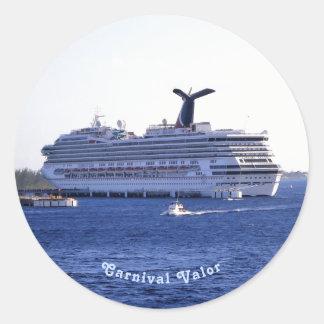 Cozumel-Kreuzschiff-Besuchs-Gewohnheit Runder Aufkleber