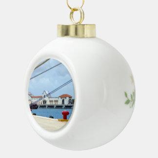 CozumelDockside Keramik Kugel-Ornament